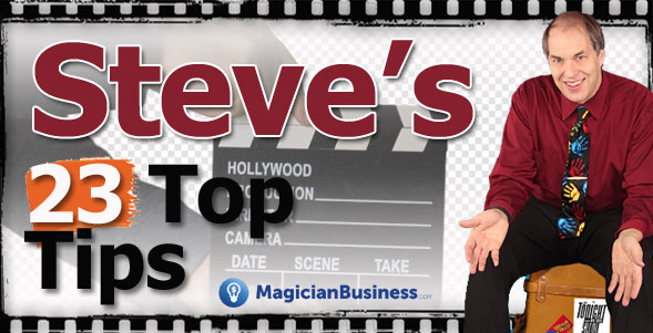 Steve Russell 23 Top Tips Magician Business