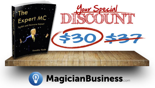 Expert MC Magician Business Special Offer Discount with Timothy Hyde