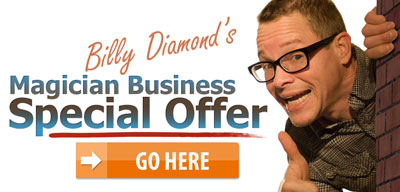 Billy Diamond Magician Business Exclusive Offer